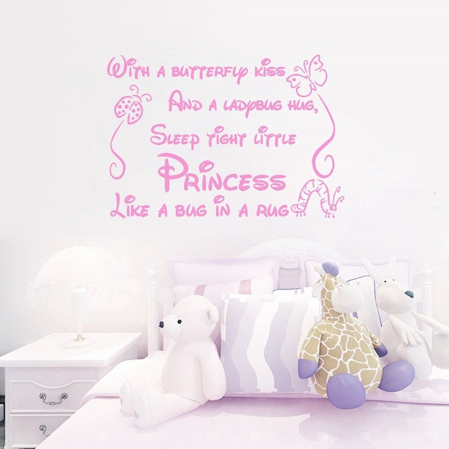 YOYOYU Wall Decal Vinyl Home Decor Sticker With a Butterfly Kiss Wall Stickers For Girl Kids Rooms Art Removeable Poster YO329 in Wall Stickers from Home Garden
