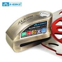 INBIKE Anti theft Motorcycle Wheel Disc Brake Lock Security Disc Lock Bicycle Bike Lock with 3 Keys and Send Lock Bag Alarm Rope