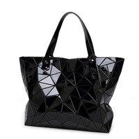 Fashion Diamond Lattice Women Bao Bao Handbag Bags Geometry Quilted Pu Leather Handbags Issey Miyak Quilted