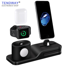 hot deal buy tendway 3 in 1 silicone for airpods case charger for apple airpods accessories dock stand mobile phone holder for apple apple
