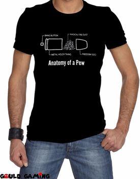 016a4714c8040 Baskı Gömlek Erkekler Anatomisi Bir Bullet T-Shirt Unisex Pamuk Yetişkin  Komik Pew NRA Silah Hakları Özgürlük 100% Pamuk Marka yeni T-Shirt