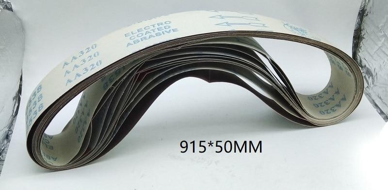 New 10pcs 915*50mm Abrasive Sanding Belt Soft Cloth Metal Belt Grinder For Metal Sander