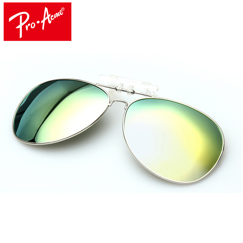 Pro Acme Polarized Clip On Sunglasses Men Driving Day & Night Vision Lens Mirror Coating Pilot Sun Glasses For Women CC0131