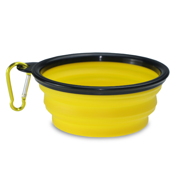 350ml/1000ml Portable Outdoor Travel Pet Dog Bowl Silicone Folding Bowls Food Drinking Water Pet Product Bowls With Buckle #3
