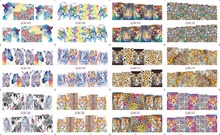 On sale !! 1 Lot =50sheets 12 in one sheet  New Style Nail Art Water Sticker Colorful animal grain 2016 for BN085-096