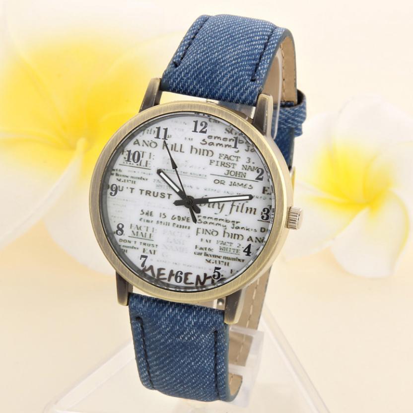 Relogio Masculino Quartz Fashion Reloje Hombre Faux Leather Men's Watch Analog Denim Fabric Wrist Watch Erkek Kol Saati #D
