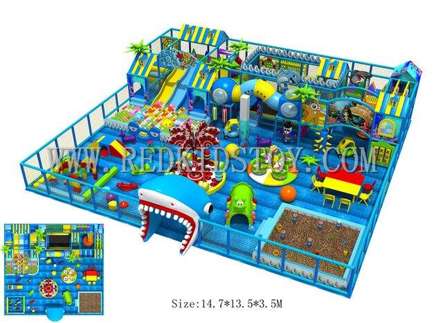 Exported To Turkey Big Indoor Playground Equipment Kids Plaza De