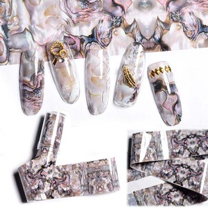 Image 5 - 1 Box Shell Nail Foil Holiday Seaside Design Nail Transfer Foil Sticker Manicure Nail Art Decorations