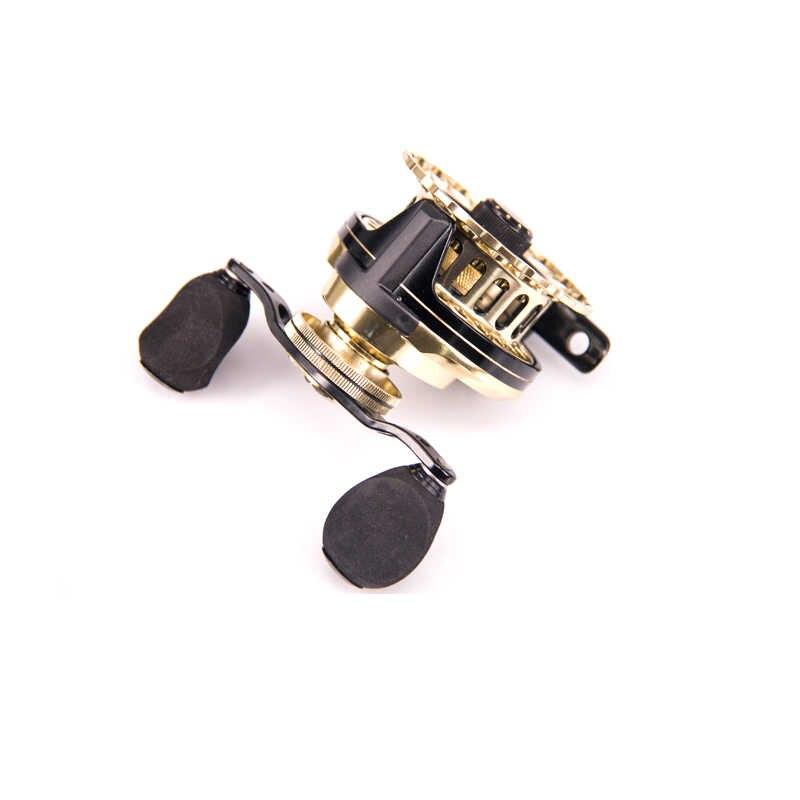 DEUKIO moulinet de pêche 8BB 4.7: 1 brème de mer noire 65 roues Micro plomb Boutique tissu de carbone métal matériel de pêche d'hiver Pesca or