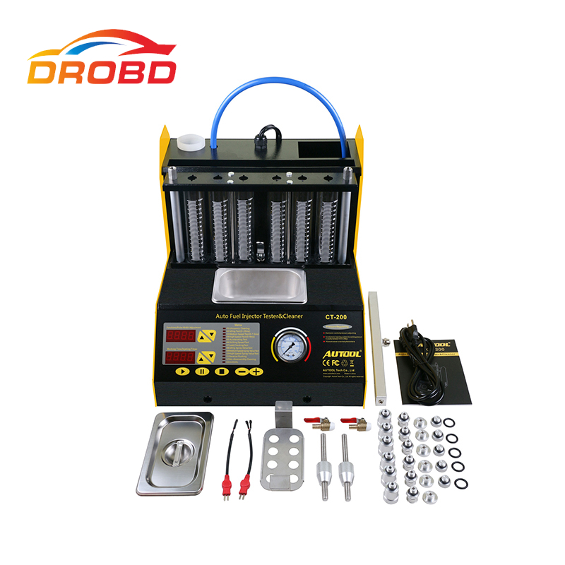 Original Autool CT-200 Auto Fuel Injector Cleaner and Tester CT200 220V/110V With English panel better than Launch CNC602A
