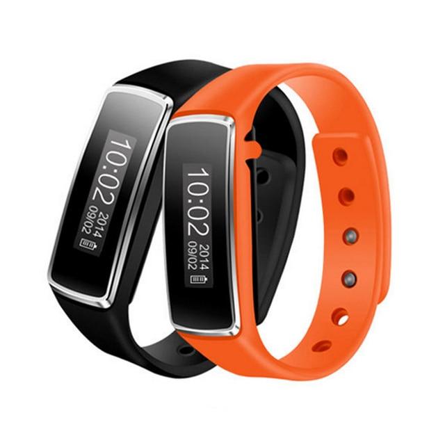 2016 impermeable bluetooth 4.0 inteligente oled pulsera smartband gimnasio rastreador reloj wrist band para iphone android smartphone # ed