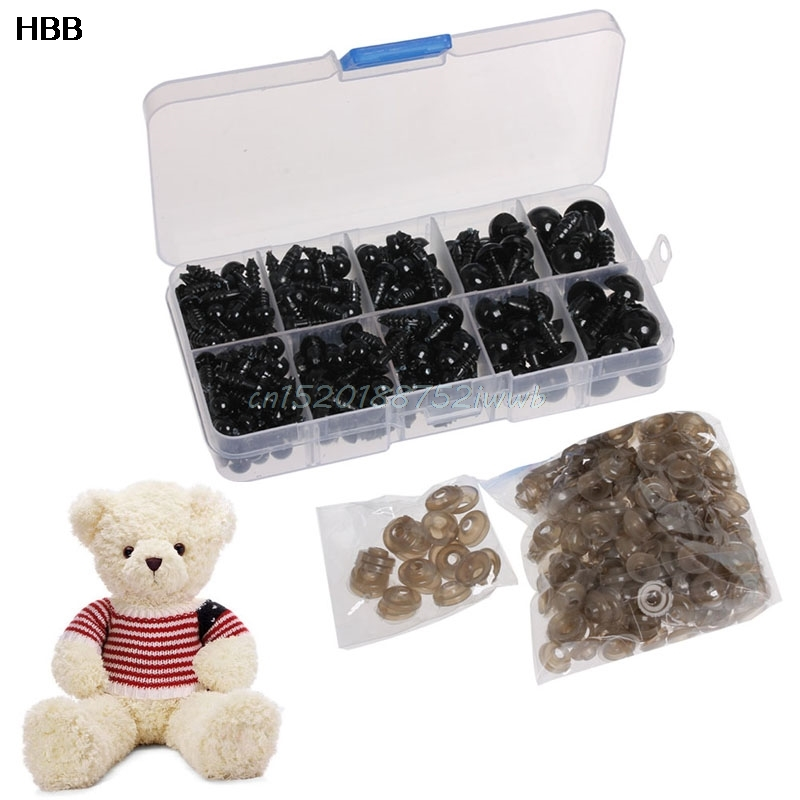 240PCS 6-12 MM Doll Eyes para Bear Stuffed Toys Snap Scrapbooking - Muñecas y accesorios - foto 3