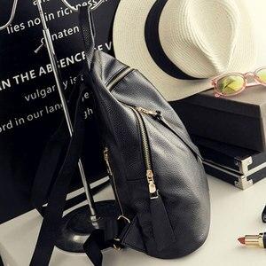 Image 3 - Женский рюкзак из ПУ кожи, Черный Повседневный дорожный рюкзак для девушек, 2020