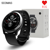 SCOMAS ECG PPG Smart Watch 1.22Round Display Heart Rate Blood Pressure Monitor IP67 Waterproof Smartwatch For iOS Android