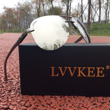 LVVKEE brand men's Aviator sunglasses polarized driving Rimless Hot rays sunglasses women Aluminum magnesium frame sunglasses