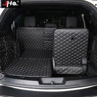 JHO коврики Багажника Грузовой области протектор для Ford Explorer 2011 18 13 14 15 16 17 7 мест кожаный вкладыш ковры крышка автомобильные аксессуары
