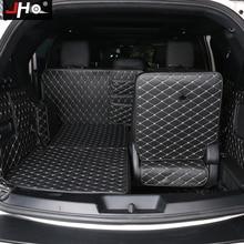 JHO 7 좌석 트렁크 카고 라이너 수호자 카펫 커버 포드 탐색기 2011 2019 2015 2016 2017 2018 2013 자동차 액세서리
