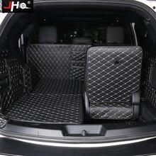 JHO 7 مقعد حمولة حقيبة السيارة بطانة حامي السجاد غطاء حصيرة لفورد اكسبلورر 2011 2019 2015 2016 2017 2018 2013 اكسسوارات السيارات