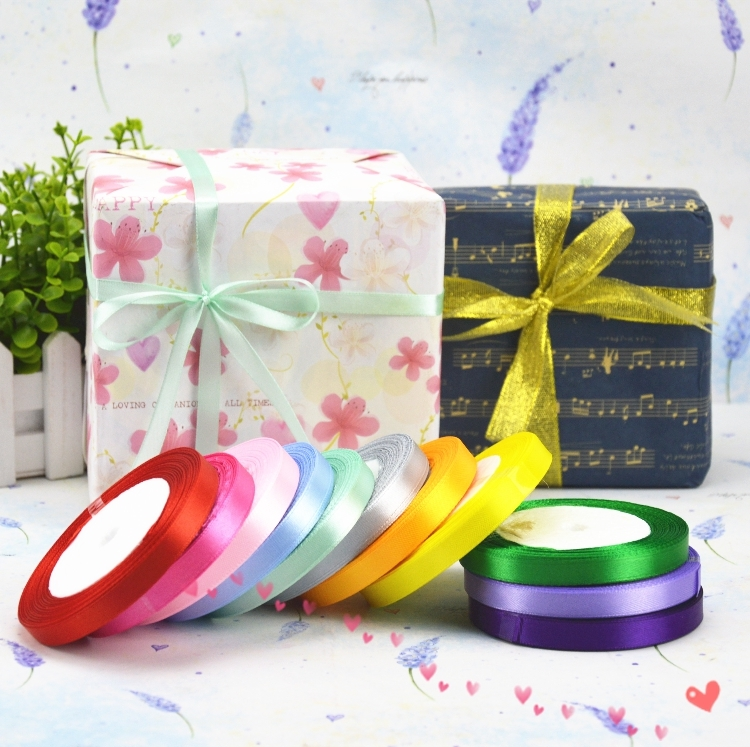 """25 Yards Satin Ribbon Wedding Party Favor Craft Sewing Decorations 10mm 3//8/"""""""
