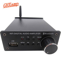 GHXAMP TPA3116D2 Bluetooth Digital Audio Amplifier 50W*2 Hifi Amp Support U Disk Playback AUX input Remote Control 1PC