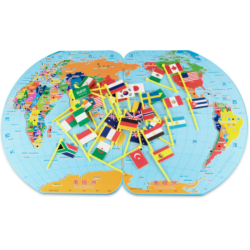 Wooden Montessori Learning Materials Montessori World Map Preschool Educational Learning Toys Juguetes Brinquedos MG2344H learning carpets us map carpet lc 201