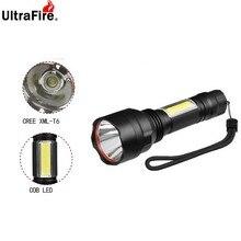 Светодиодный фонарь Ultrafire C8 T6+ Рабочая лампа светодиодный аварийная вспышка 4 режима факел Фонари Охотничий Тактический фонарь кемпинг Luz18650 бликов Flashlig