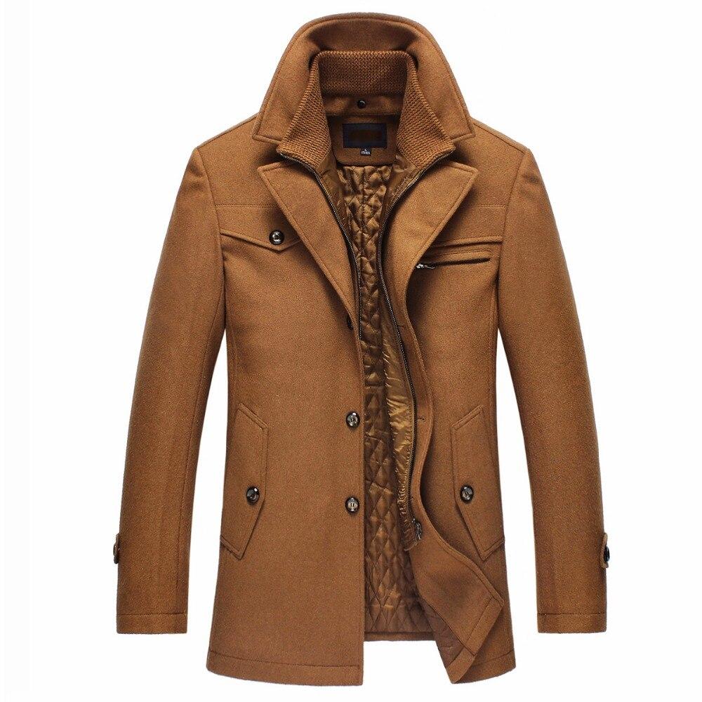 DUDALINA livraison directe nouveau hiver laine manteau Slim Fit vestes hommes décontracté chaud veste d'extérieur et manteau hommes caban taille M-4XL