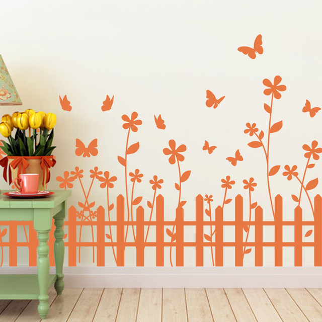 Customized Flower Handmade Sticker Creative Nursery School Baby Room Wall  Decoration Waterproof DIY Home Decor Sticker