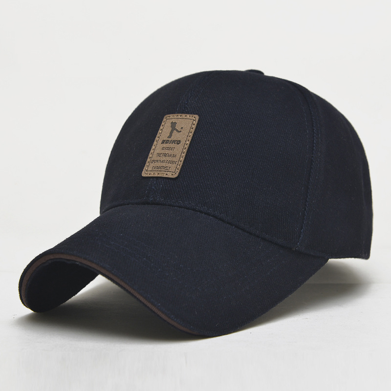 baseball cap men adjustable casual leisure hats solid color fashion summer fall mens wool ear flaps nike hat how to wear a style