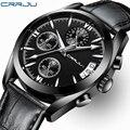 CRRJU Топ бренд Роскошные Мужские часы Мужские Военные Спортивные Светящиеся стальные часы Бизнес Кварцевые часы мужские часы Relogio Masculin