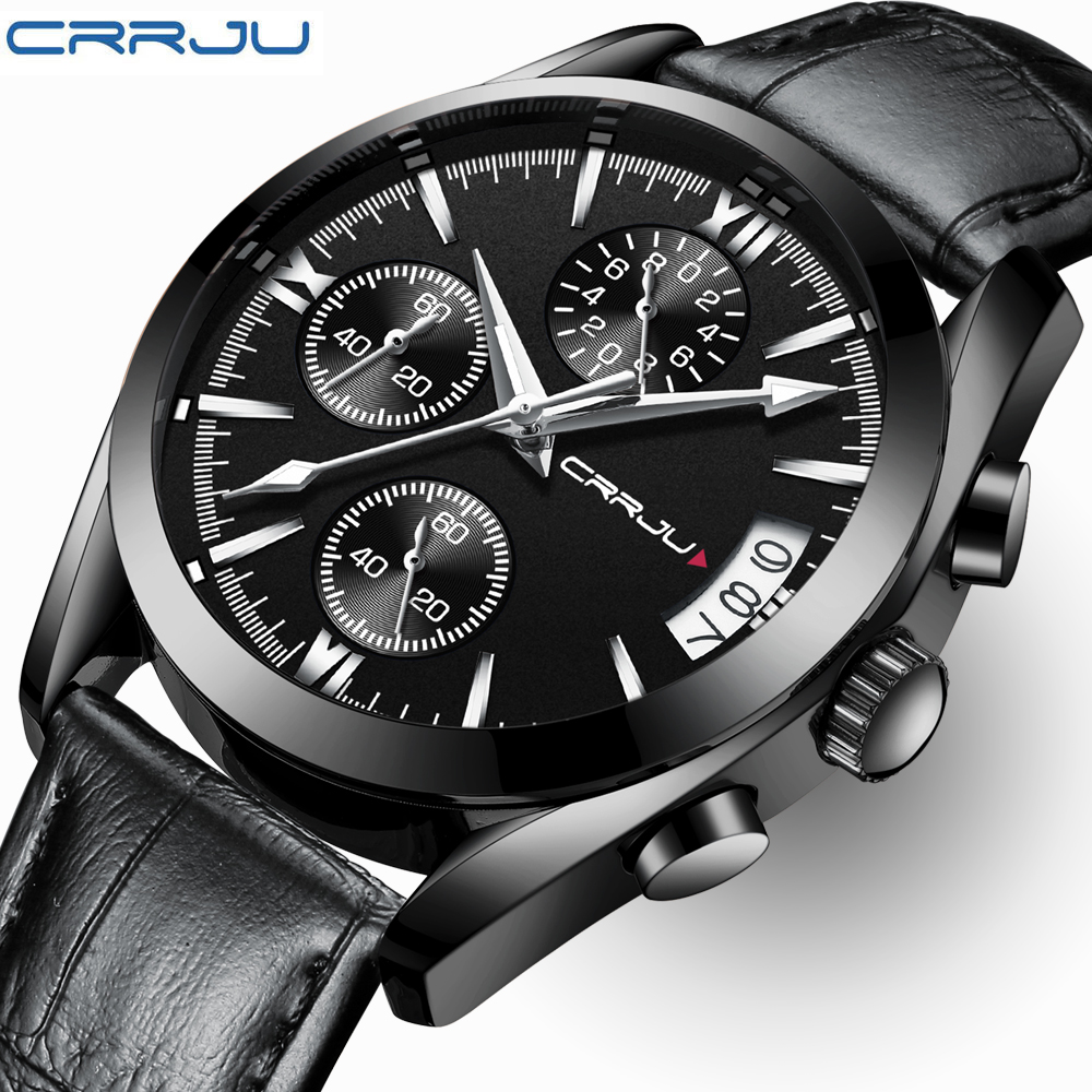 CRRJU Top Brand Luxury Mens Watches Male Military Sport Luminous Steel Watch Business quartz-watch Man Clock  Relogio MasculinCRRJU Top Brand Luxury Mens Watches Male Military Sport Luminous Steel Watch Business quartz-watch Man Clock  Relogio Masculin