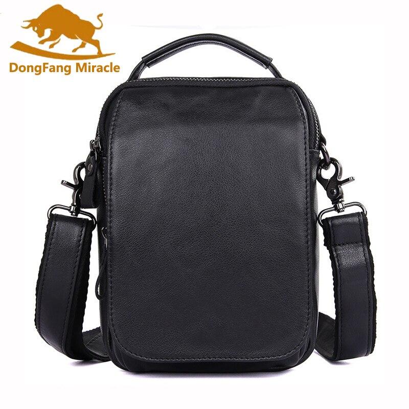 Hot sale New Casual Vintage genuine leather men bags small shoulder bag men messenger bag leisure