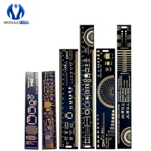 1Set 15cm 20cm 25cm Multifunctional PCB Ruler Measuring Tool Resistor Capacitor Chip IC SMD Diode Transistor Package 180 Degrees(China)