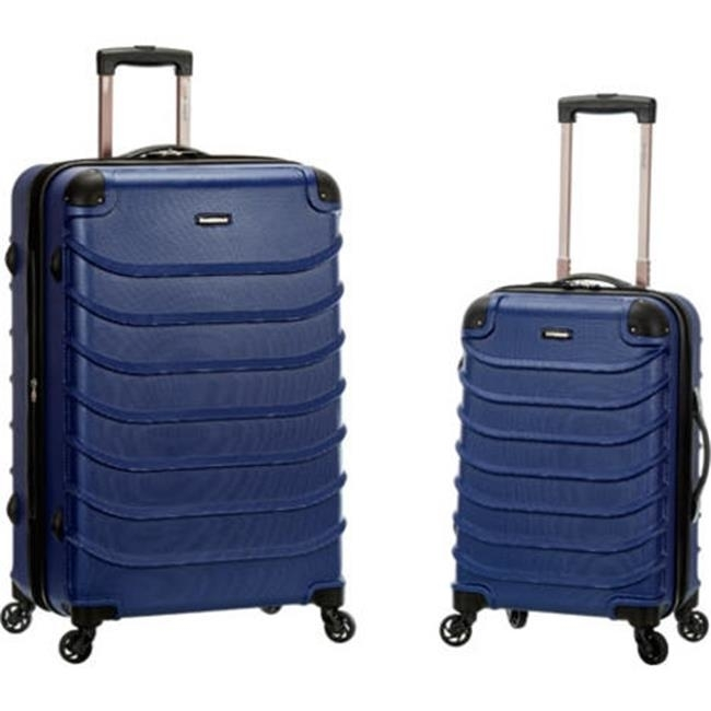 Rockland F230-BLUE 20 x 28 in. Speciale Expandable Abs Spinner Suitcase Set Blue - 2 Piece pm company expandable dark green transit sack 18w x 4d x 14h 04647 dmi ea