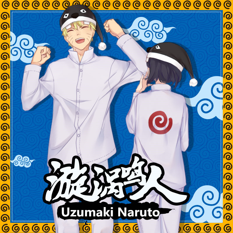 Anime Cartoon NARUTO Uzumaki Naruto Cosplay Costumes Flannel Pajamas Women Man Kids Teens Adult Warm Winter Daily Casual Costume
