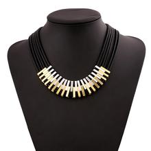 Womans Alloy Necklace Multiply Leather Chain Design Necklet Pendant Tassel Party Jewelry Neck jn114