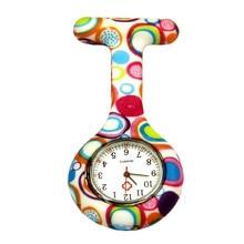 Карманные часы клип на карманные кварцевые Броши Висячие Часы для медсестры модные повседневные мужские и женские унисекс Резиновые Силиконовые relogio feminino saat