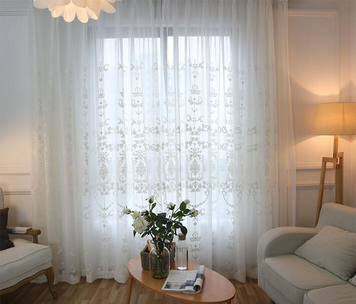 European window screen white lace curtain screen cloth and short curtain finished products in Curtains from Home Garden