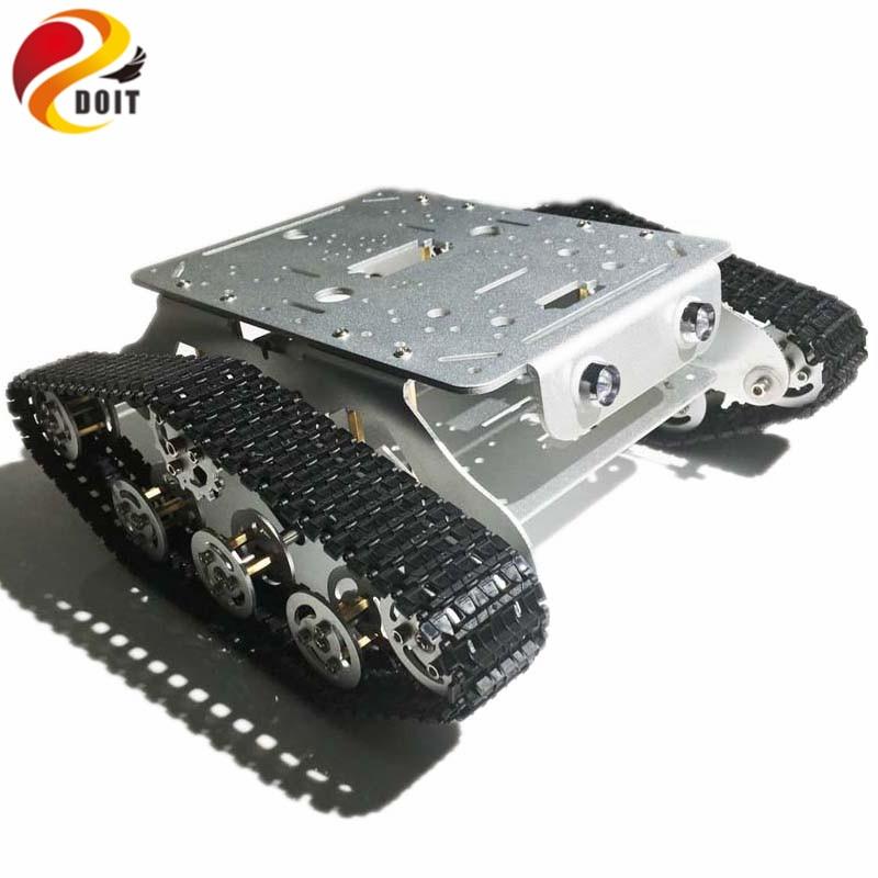 DOIT TSD300 Sterowanie Bluetooth / WiFi Crawler Tank Car Vehicle ze - Zabawki zdalnie sterowane - Zdjęcie 5