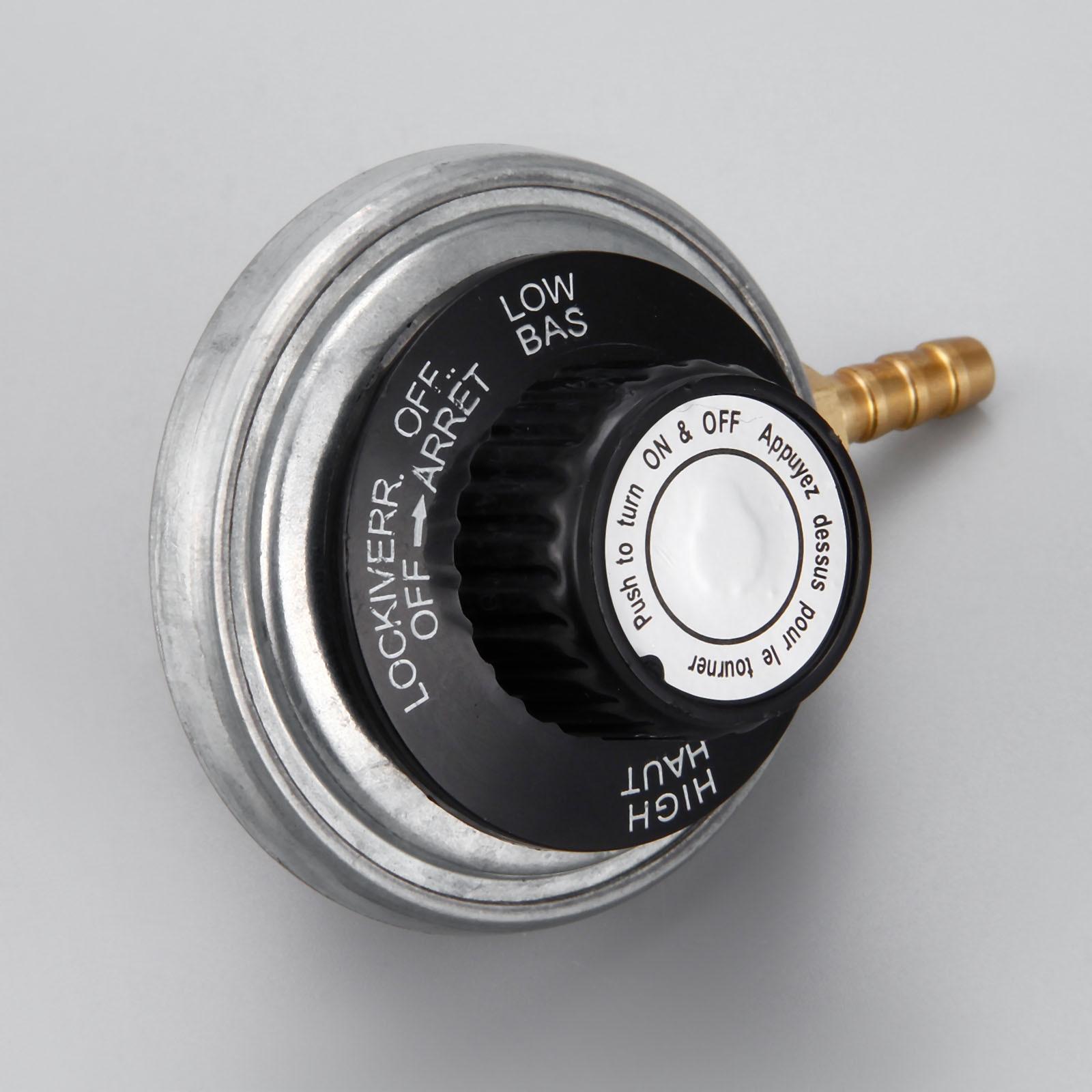 One Pound Propane Tank Low Pressure Gas Regulator Valve Adjustable Propane Tank 1/4inchbarb Hose Connection Kit 47600 BTU/HR