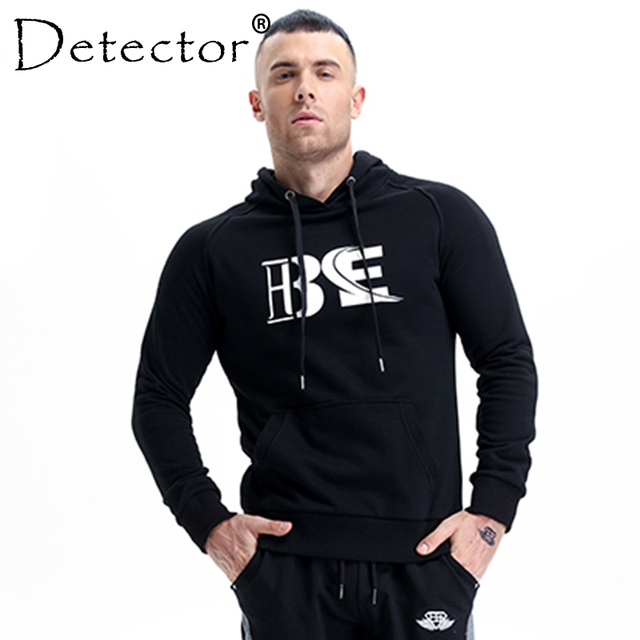 4570a223c47 Detector Men s Fitness Breathable Hooded Sweatshirt Pullover Hoodies Zipper  Slim Fit Running Jackets Gym Sportswear