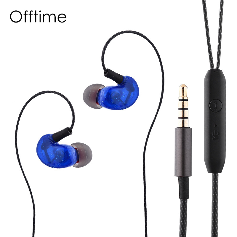 Offitme NEW1 in Ear Headphones New Smart Headset Super Bass earphone For DJ MP3 With Mic fone de ouvido audifonos auriculares