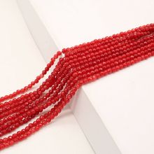 New Style 4mm Round Faceted Red Blue Color Onyx Bead Natural Stone Bead For Jewelry Making DIY Bracelet Necklace Accessories
