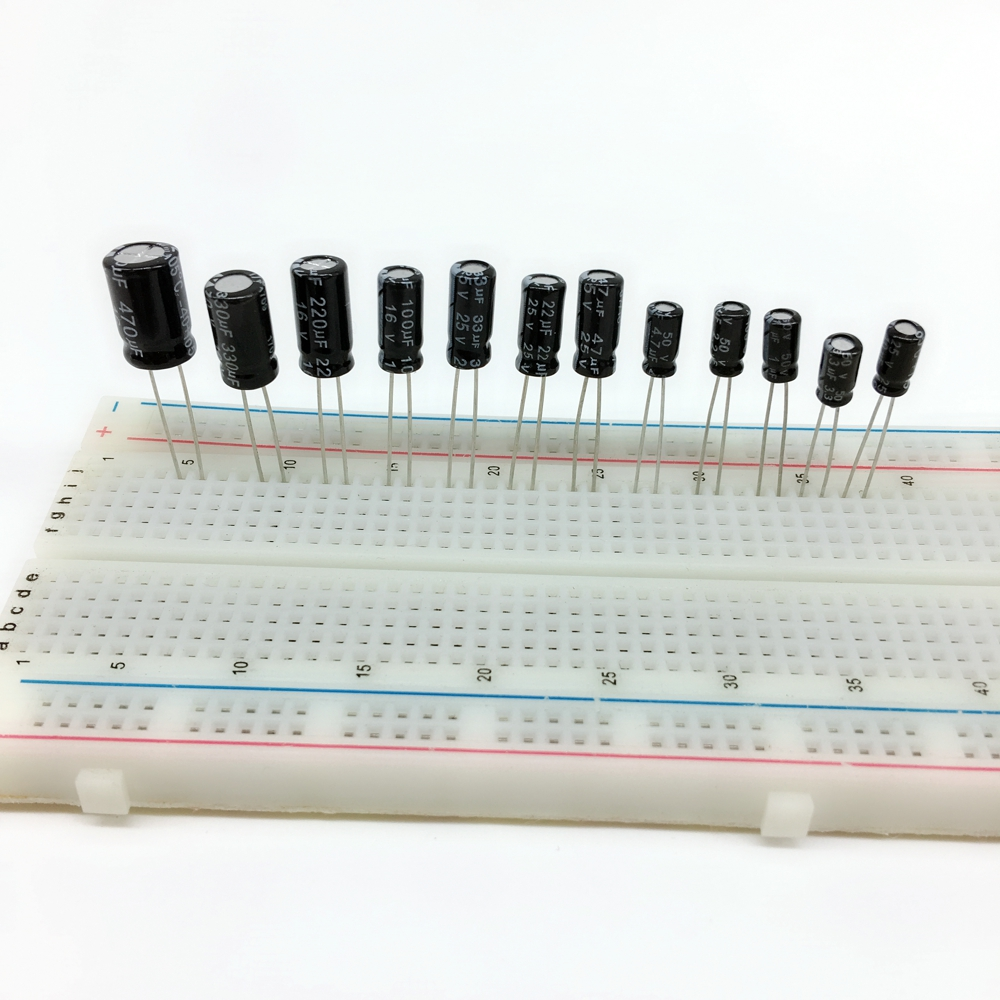 120pcs 12 value kit Electrolytic Capacitor assortment set pack <font><b>50V</b></font> 1UF 2.2UF 3.3UF 4.7UF 25V <font><b>10UF</b></font> 22UF 33UF 47UF 16V 100UF 220UF image