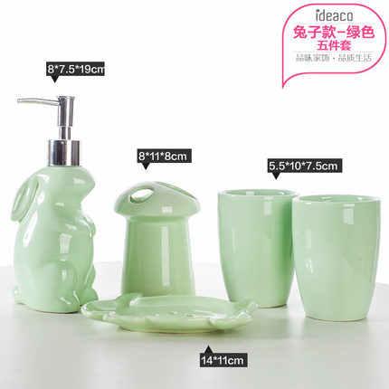 Łazienka ceramiczna pięć sztuk zestaw kształt wieloryba do prania zestaw ślub prezent kubek + szczoteczka do zębów uchwyt + balsam butelka + mydelniczka