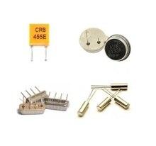 Oscilador de cristal cilíndrico pasivo, 32.768KHZ, 2*6/ 32.768K/3*8mm, 455KHZ/CRB455E/455K, 433MHZ, R433A, 433M, 10 Uds.