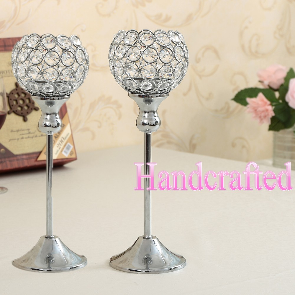 Crystal candle holders wedding candelabra centerpiece