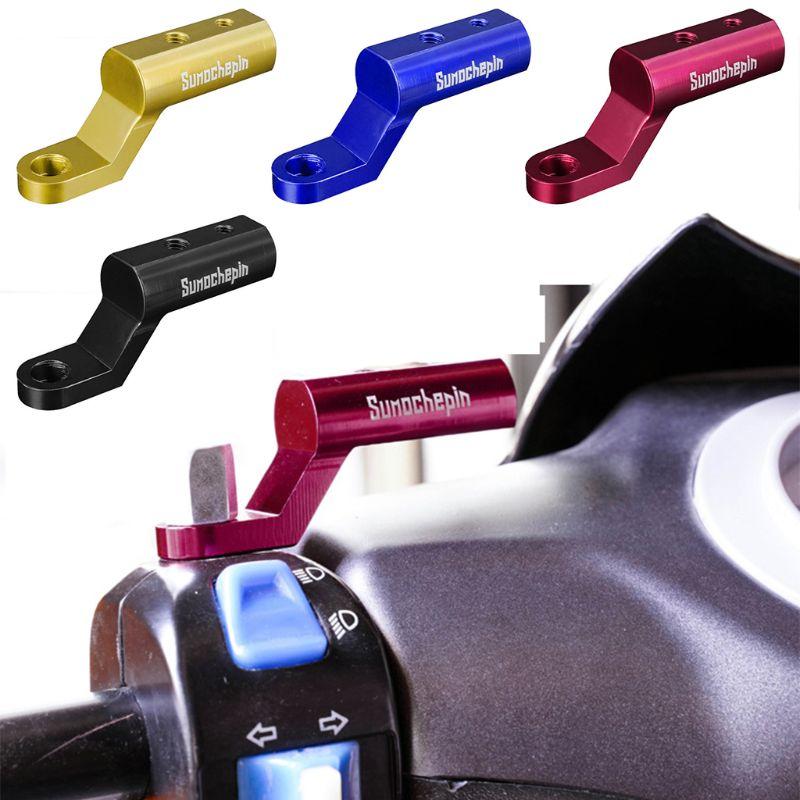 Motorcycle Expansion Rack Rear View Handlebar Mirror Mount Adapter Motorbike Light Expansion Bracket Phone Holder Stand