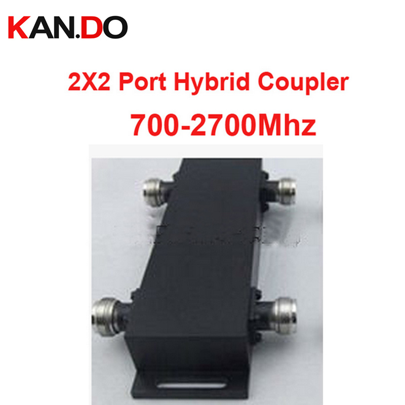 300W 3dB 700-2700MHz Micro-Stirp coupler 2X2 Port Hybrid Coupler signal coupling device radio frequency couple for telecom use