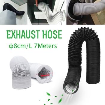 Tubo de escape Universal para aire acondicionado tubo de ventilación Flexible, tubo telescópico, 8cm, 3,15 1